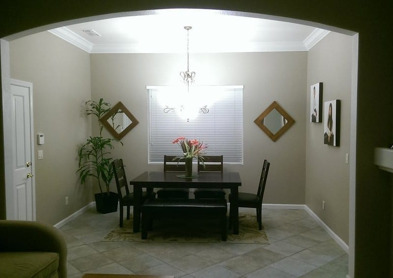 painted interior dining room