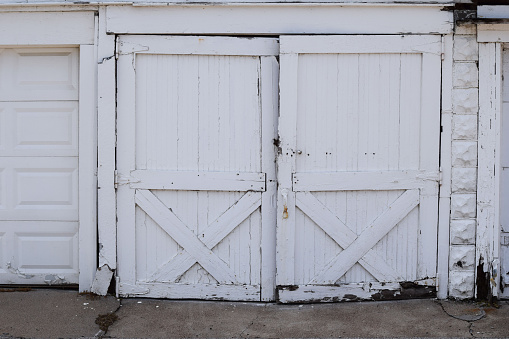 Garage door with dry rot