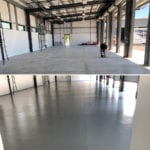 Before and After Commercial Epoxy Garage Floor