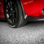 Garage Floor Epoxy with Red Challenger