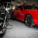 Garage Floor Epoxy with Car and Motorcyle